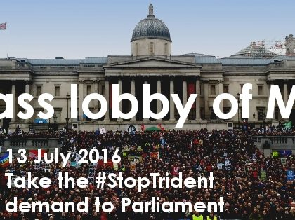 Mass lobby of MPs on Trident